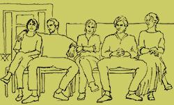 sitzen komunikation und gestik
